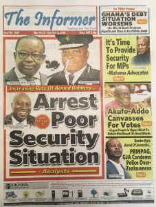 Newspaper headlines of Monday, October 12, 2020 1